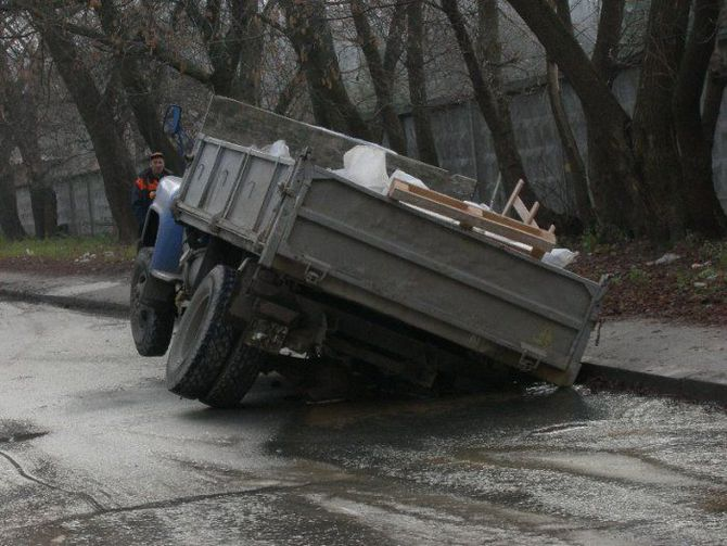 ДТП на плохой дороге