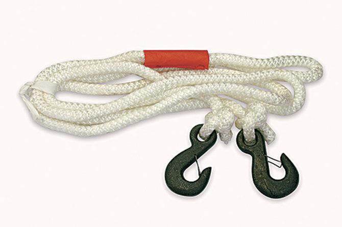 Как привязать крюк к буксировочному тросу