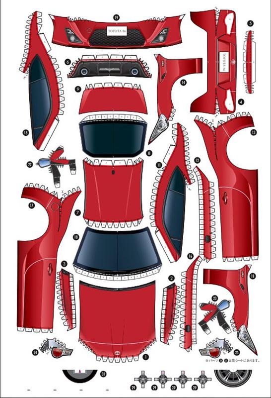 Toyota предлагает склеить спортивное купе GT 86 из бумаги - Автокадабра