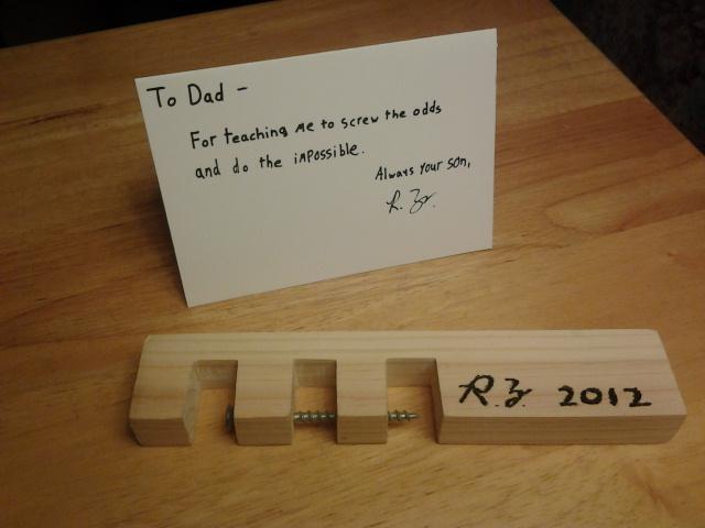 Подарок отцу на день рождения своими руками от сына