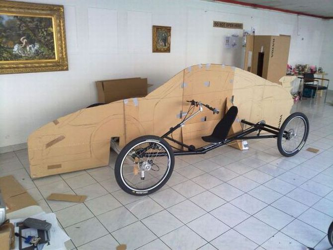 Автомобиль на педалях своими руками видео