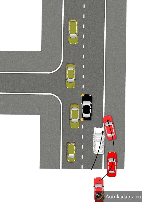 2 полосная дорога, с небольшой